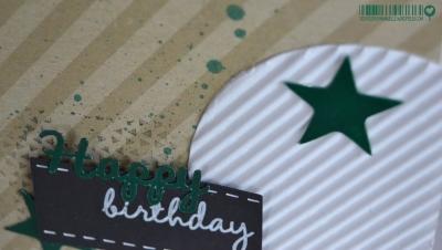 Carte d'anniversaire étoiles et kraft   https://createdbyemmanuelle.wordpress.com