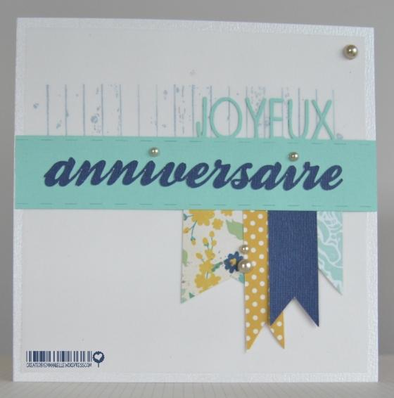 Carte anniversaire fanions octobre 2014 | Created by Emmanuelle