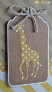 Carte d'anniversaire girafe et kraft | https://createdbyemmanuelle.wordpress.com