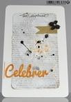 Une carte en or et noir  Created by Emmanuelle