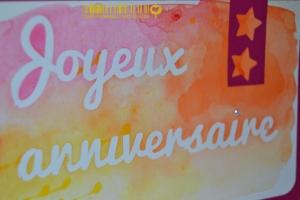 Carte anniversaire aquarelle Novembre 2014 | Created by Emmanuelle