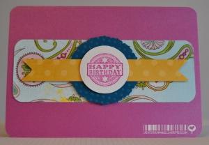 Carte anniversaire paisley Décembre 2014 | Created by Emmanuelle