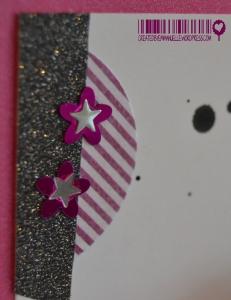 Carte Anniversaire paillettes Novembre 2014 | Created by Emmanuelle