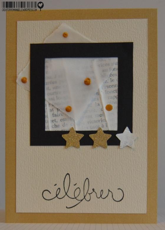 Carte cadre or anniversaire Novembre 2014 | Created by Emmanuelle