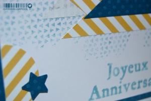 Carte anniversaire fanions Novembre 2014 | Created by Emmanuelle