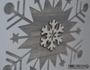 Carte flocons bois novembre 2014 | Created by Emmanuelle