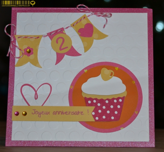 Carte 2ans juliette Décembre 2014 Created by Emmanuelle