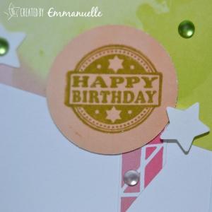Carte anniversaire épurée Mai 2015 | Created by Emmanuelle