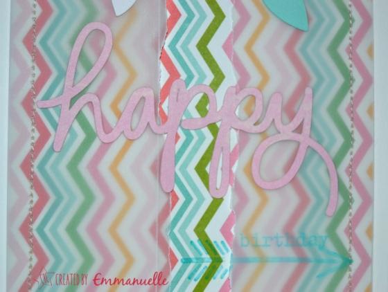 Carte anniversaire Pastel Mai 2015 | Created by Emmanuelle
