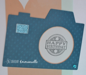 Carte anniversaire photo Carte Maniak #109 |Created by Emmanuelle