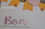Carte anniversaire bannière et ronds Juillet 2015   Created by Emmanuelle