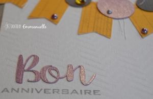 Carte anniversaire bannière et ronds Juillet 2015 | Created by Emmanuelle