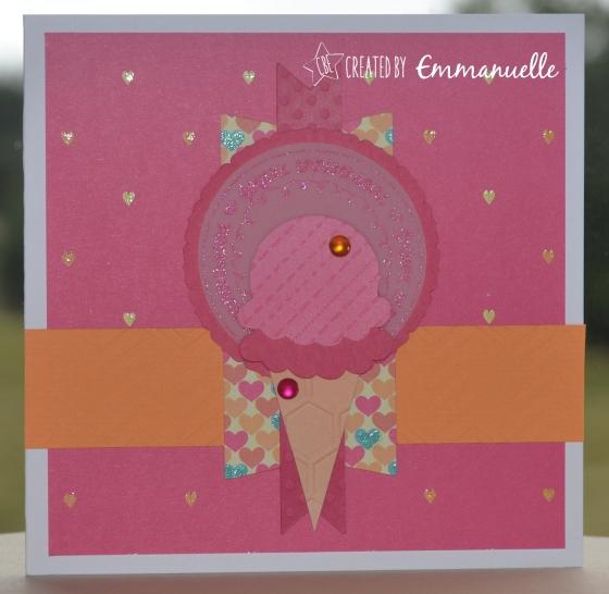 Carte anniversaire Gourmandise Juillet 2015 | Created by Emmanuelle