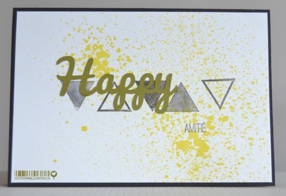 Carte Happy Octobre 2014 | Created by Emmanuelle