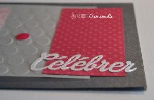 """Carte anniversaire """"célébrer"""" Juillet 2015   Created by Emmanuelle"""