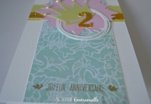 Carte anniversaire Couronne Août 2015 | Created by Emmanuelle