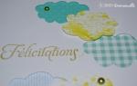 Carte félicitations nuages Août 2015 | Created by Emmanuelle