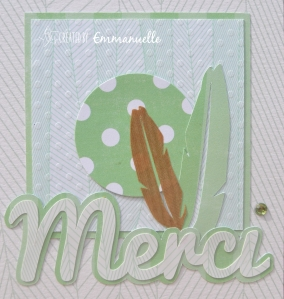 Carte Merci plumes Août 2015 | Created by Emmanuelle