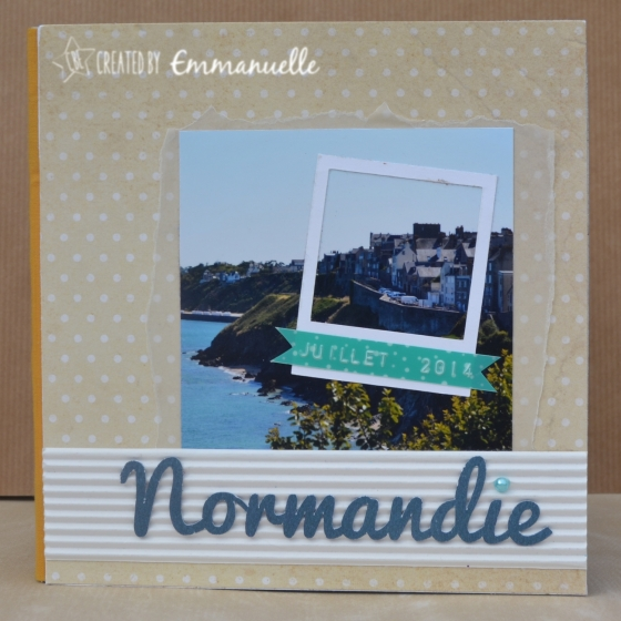 Mini-album Normandie Août 2015 | Created by Emmanuelle