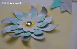 Carte anniversaire fleurie Septembre 2015   Created by Emmanuelle