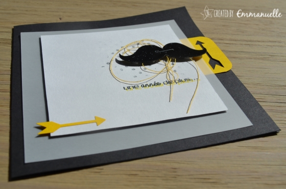 "Carte anniversaire ""Moustache"" Septembre 2015 