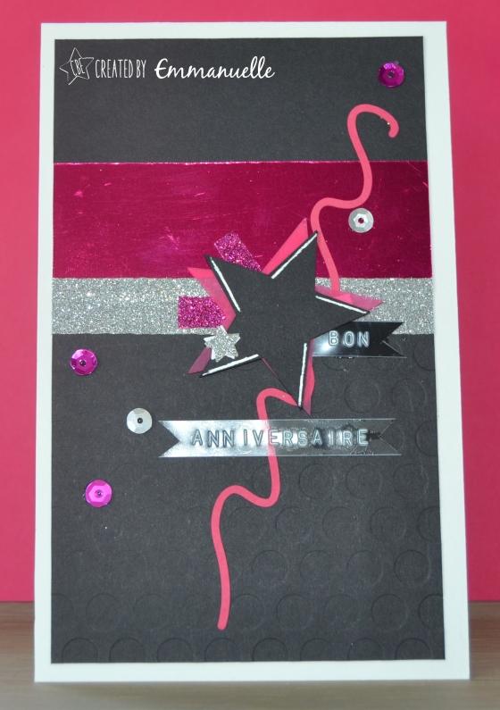 "Carte Anniversaire ""Rock Girl"" Septembre 205 | Created by Emmanuelle"