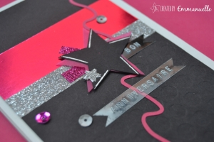 "Carte Anniversaire ""Rock Girl"" Septembre 205 