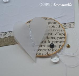 Carte félicitations cœur Septembre 2015 | Created by Emmanuelle
