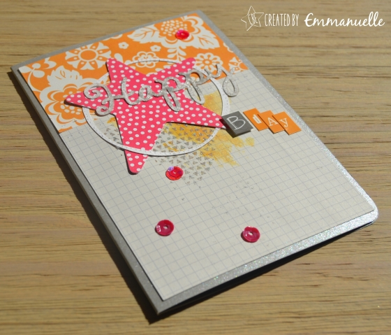 Carte Happy Septembre 2015 | Created by Emmanuelle
