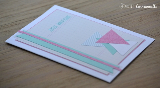 """Carte anniversaire """"triangles"""" Octobre 2015 