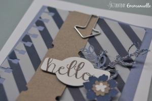 "Carte ""hello"" Octobre 2015 | Created by Emmanuelle"