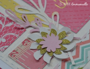 "Carte ""Patchwork rose"" Octobre 2015 