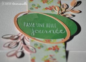 "Carte -pochette ""ovale"" Octobre 2015 | Created by Emmanuelle"