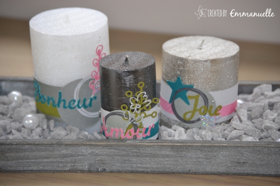 Bougies scrappées Avent 2015 Novembre 2015 | Created by Emmanuelle
