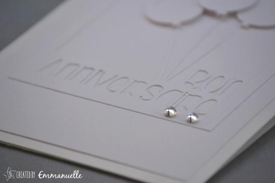 Carte anniversaire Monochrome Blanc Novembre 2015 | Created by Emmanuelle
