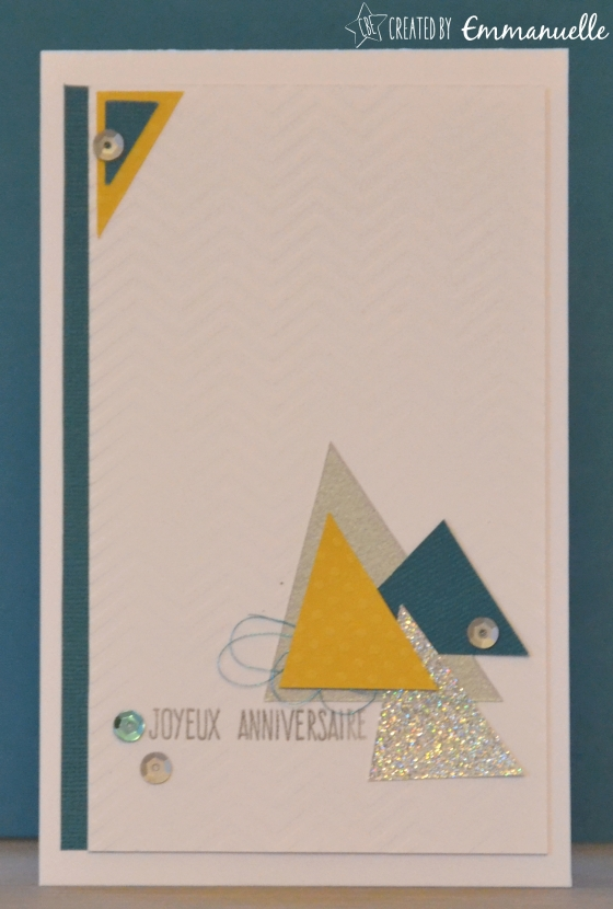 "Carte anniversaire ""triangles"" Novembre 2015 