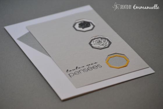 Carte condoléances Hexagones Novembre 2015 | Created by Emmanuelle