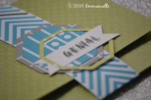 "Carte -pochette ""Octogones"" Novembre 2015 | Created by Emmanuelle"