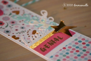 "Marque-page ""Gold & girly"" Novembre 2015 