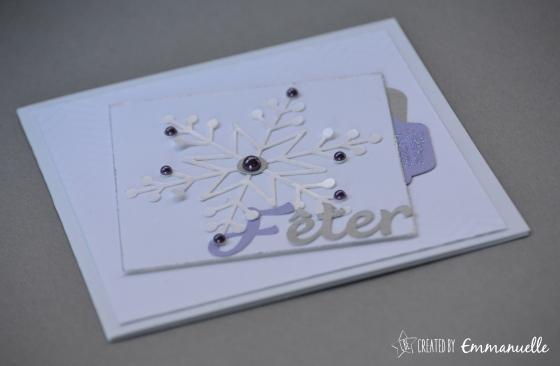 Carte de voeux flocon violet Novembre 2015 | Created by Emmanuelle