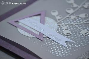 Carte de voeux triangle violet Novembre 2015 | Created by Emmanuelle