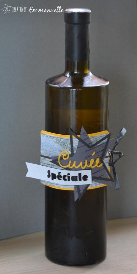 """Etiquette bouteille de vin """"étoiles"""" Décembre 2015   Created by Emmanuelle"""