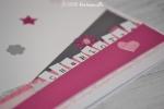 Carte anniversaire en rose et gris Février 2016   Created by Emmanuelle