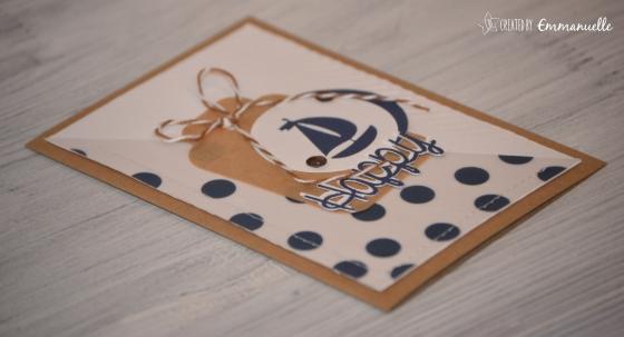 "Carte anniversaire ""marin"" Février 2016 | Created by Emmanuelle"