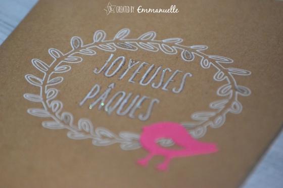 """Carte Pâques """"oiseau"""" Février 2016   Created y Emmanuelle"""