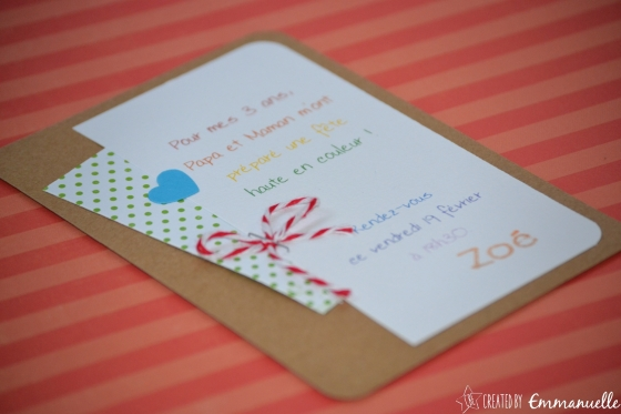 Invitation Arc-en-ciel Janvier 2016   Created by Emmanuelle