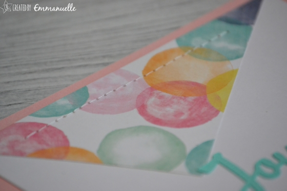 "Carte Anniversaire ""Pastel"" Mars 2016 | Created by Emmanuelle"