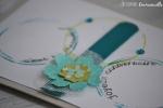 """Carte anniversaire """"ronds et fleur"""" Mars 2016   Created by Emmanuelle"""