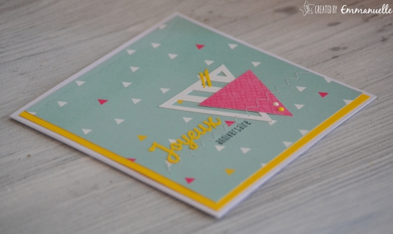 "Carte ""triangles flashy"" Avril 2016 