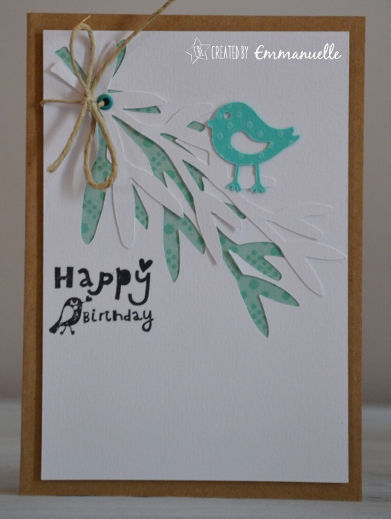 "Carte ""happy birds"" Avril 2016 